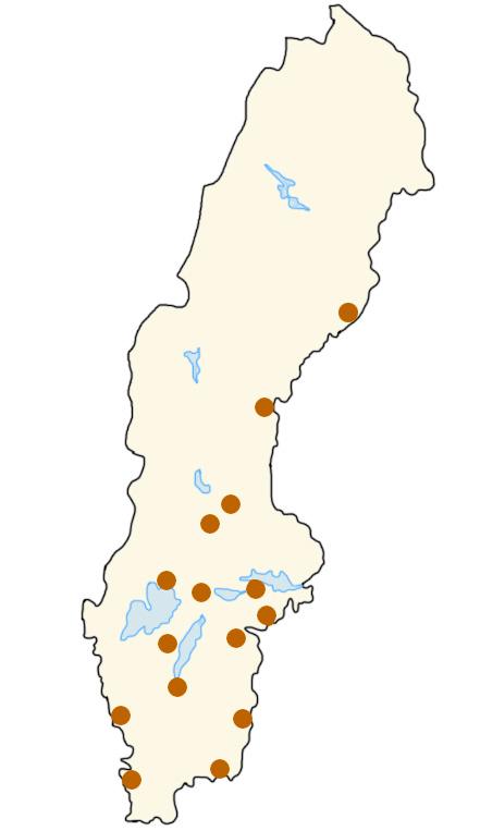 Sverigekarta med Västerkullahotell